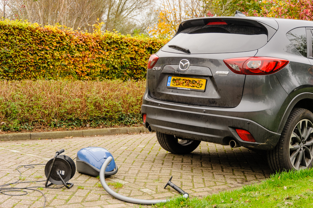 stofzuiger en auto
