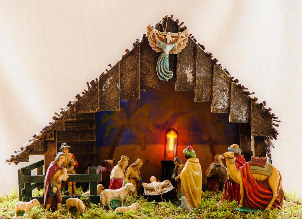 kerststal jaren 50 vorige eeuw